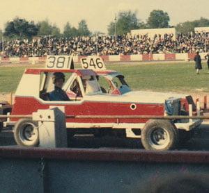Cayzer RAcing in 1960swith Spedeworth Superstox