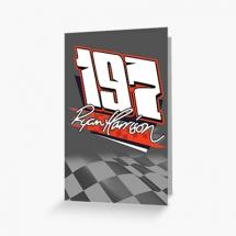 197 Ryan Harrison Brisca F1 greetings card