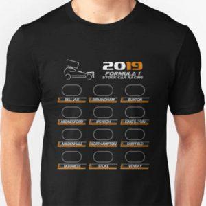 2019 Brisca F1 track list T-Shirt