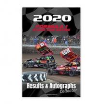 2020 Formula 1 Stock Car Racing Results & Autographs book