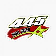 445 Nigel Green Brisca F1 Sticker
