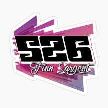 526 Finn Sargent Brisca F1 Stock Car Racing sticker