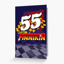 55 Craig Finnikin Brisca F1 Stock Car Racing 2021 Greetings card