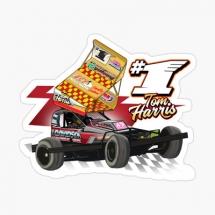 84, 1 Tom Harris Brisca F1 Stock Car Racing 2021 sticker