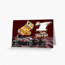 84, 1 Tom Harris Brisca F1 Stock Car Racing 2021 greetings card