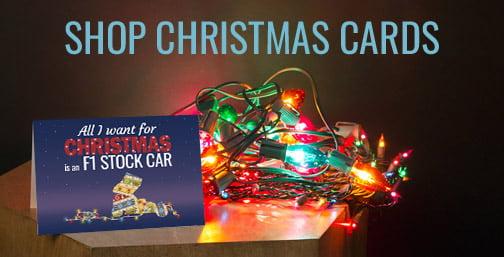 Stock Car Racing Christmas Cards