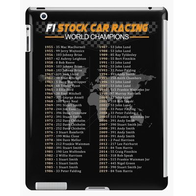 F1 Stock Car Racing World Champions ipad cover
