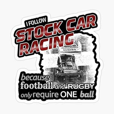 I follow Stock Car Racing Sticker