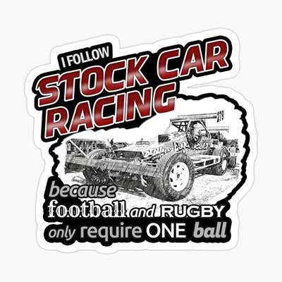 I follow Superstox Racing Sticker