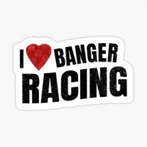 i-love-banger-racing-sticker