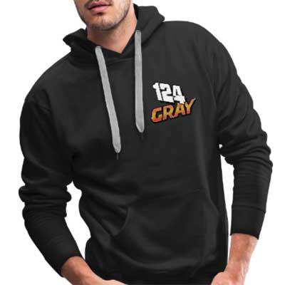 Kyle Gray 124 Brisca F1 2019 Hoodie front & back