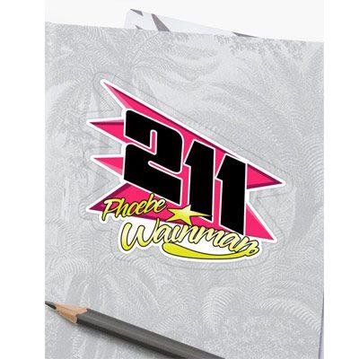 Phoebe Wainman 211 Brisca F1 2019 Sticker
