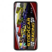 stock-car-racing-logo-yellow-phone-case