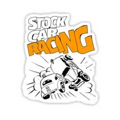 Stock Car Racing Retro Racing Sticker