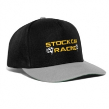 Stock Car Racing yellow logo with flags