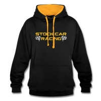 Stock Car Racing yellow logo Hoodie