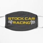 Stock Car Racing logo with flags mask