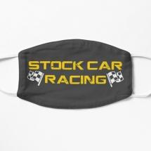 Stock Car Racing logo with flags mask