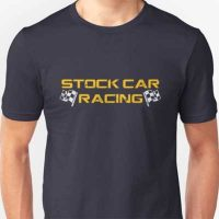 Stock Car Racing yellow logo T-Shirt